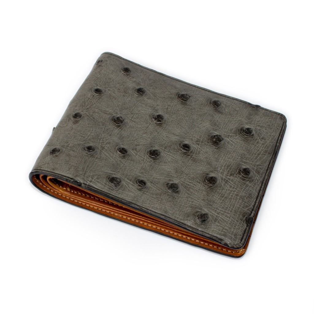 Ostrich Wallets For Sale Grey Ostrich Wallet Camel