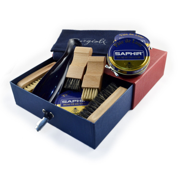 Shoe care kit made in Italy and Frnace by Lacci Fratelli Borgioli