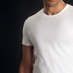 Perofil mens white cotton 4ever round neck t-shirt