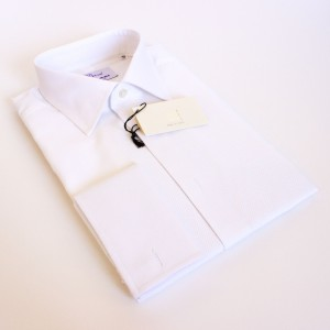 COLLARI SHIRT MADE IN ITALY WHITE evening formal bib front marcella