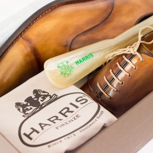 Men's tan shoes by Calzoleria Harris 1913, Made in Italy.
