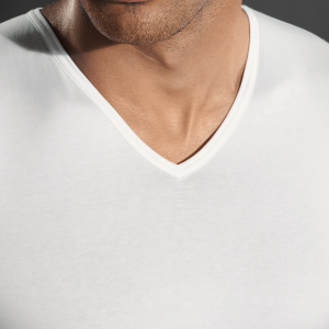 Perofil 4-seasons V-neck white t-shirt